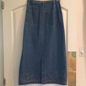Chico's Skirts - Chico's beaded denim maxi skirt